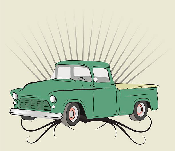 Old truck. vector art illustration