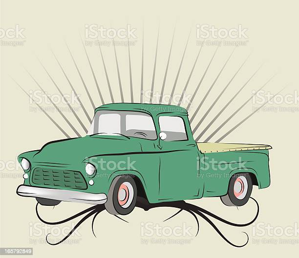 Old Truck Stock Illustration - Download Image Now