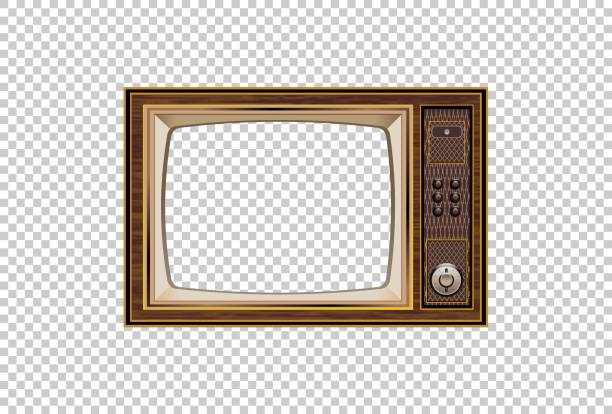 eski tv illüstrasyon iyi eski retro tv - eski stock illustrations