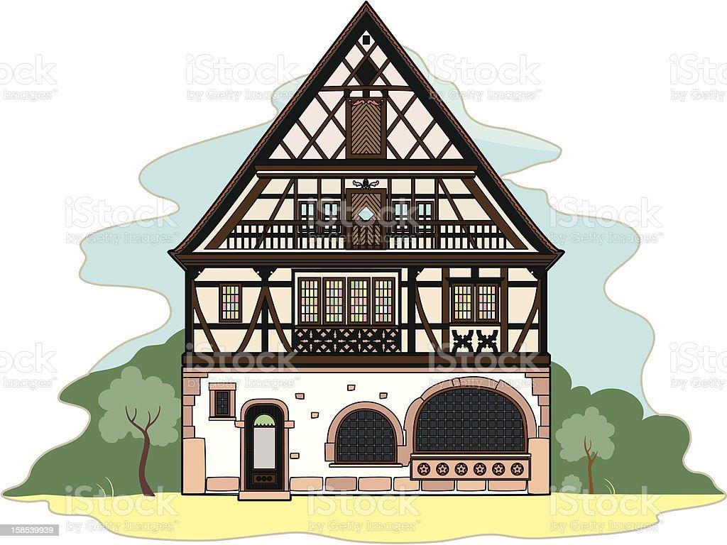 Vieille maison typique - Illustration vectorielle