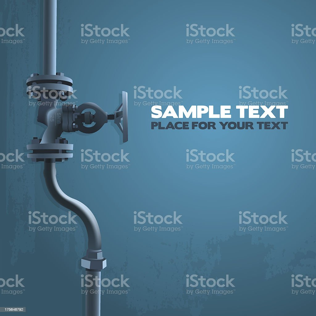 Old valve vector art illustration