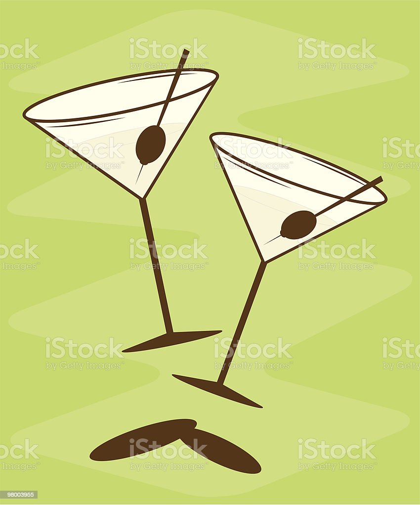 Old Vegas Martinis royalty-free old vegas martinis stock vector art & more images of 1950-1959