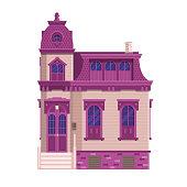 Old Victorian Mansion Building