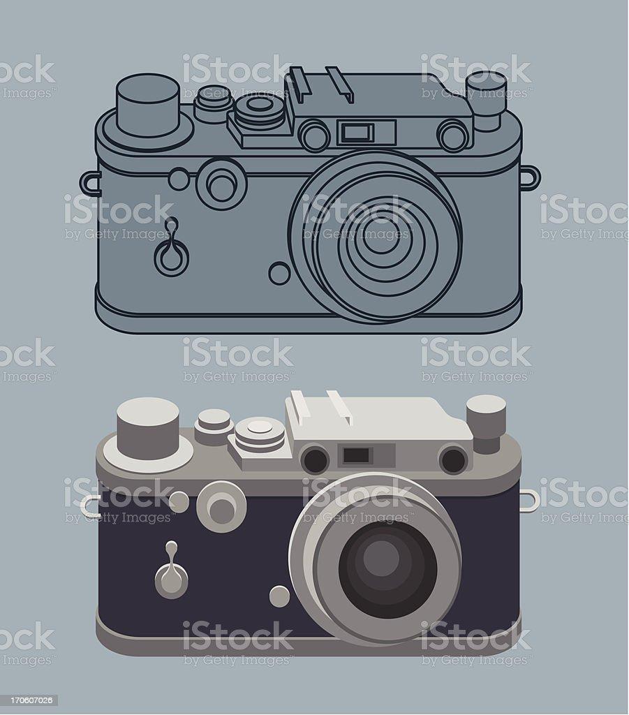 Old vintage camera royalty-free stock vector art