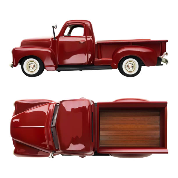 Best Old Red Pickup Truck Illustrations, Royalty-Free ...