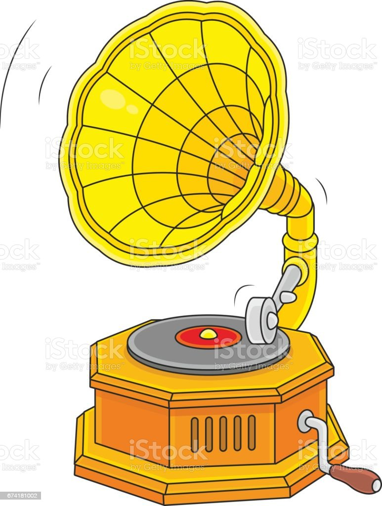 old vintage gramophone stock illustration download image now istock https www istockphoto com vector old vintage gramophone gm674181002 123626181