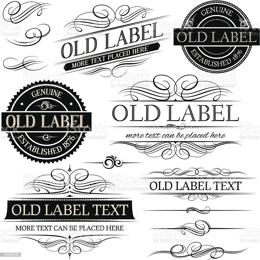 Old vintage labels royalty-free old vintage labels stock vector art & more images of badge