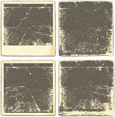 Retro photos and frames. Vector Illustration. EPS10 transparent gradient mesh shadow.