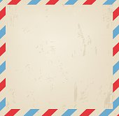 Old vintage post blank grungy background vector illustration