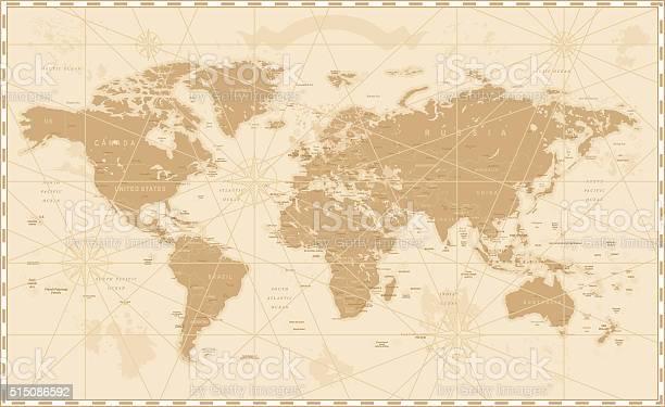 Old vintage retro world map vector id515086592?b=1&k=6&m=515086592&s=612x612&h=pjntwk9vfhbrco3l8nsfuii9yfsoffnkd xcuznxeau=