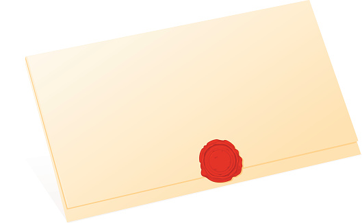 Old Wax Seal and Folded Letter