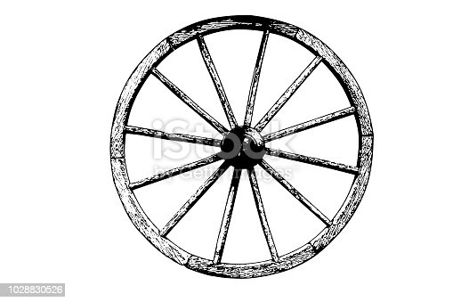 Old wheel cart