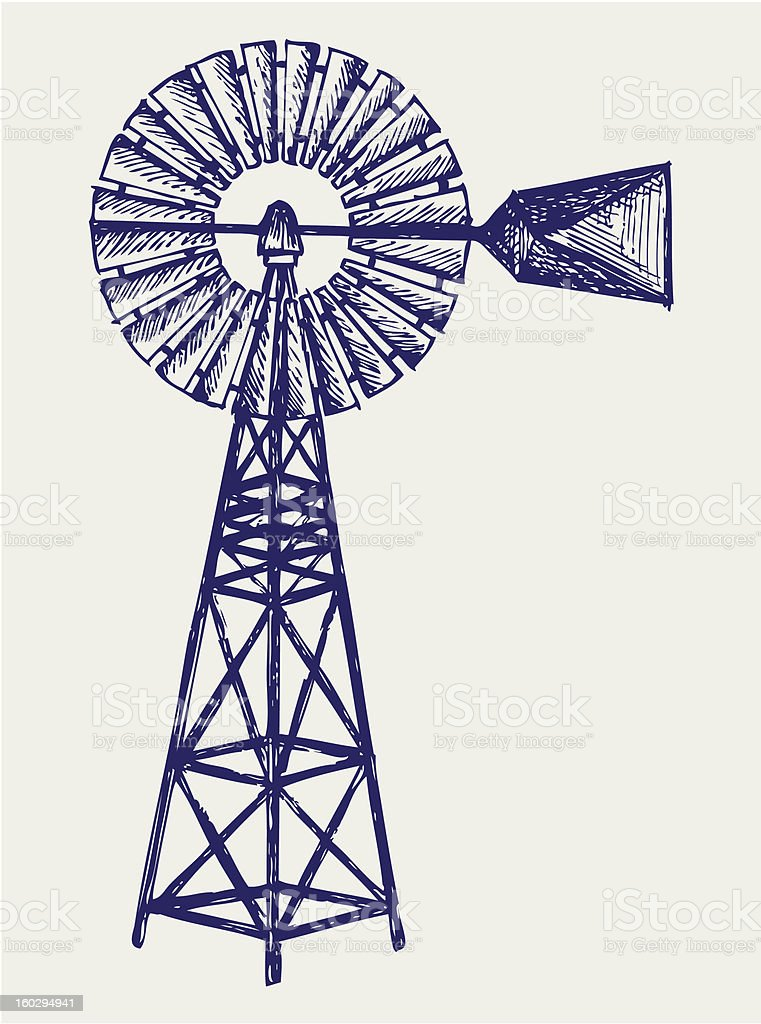 Old windmill royalty-free old windmill stock vector art & more images of art