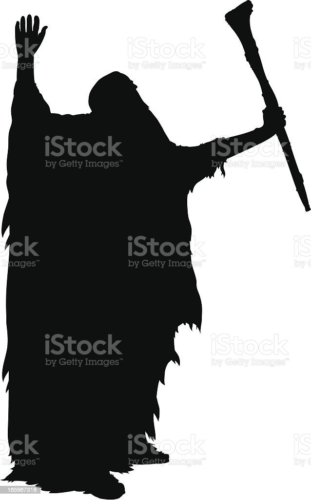 Old Wizard royalty-free stock vector art