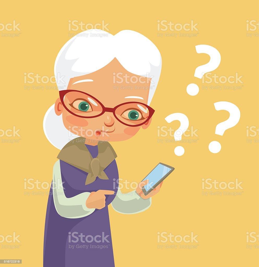 Mujer teléfono y moderna - ilustración de arte vectorial