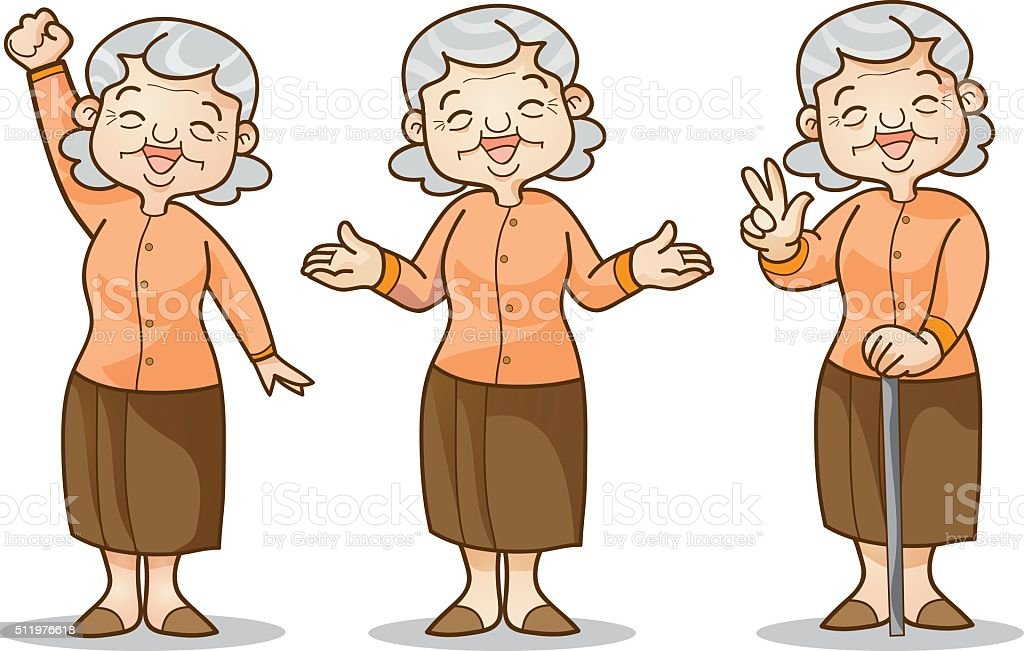 old woman cartoon character set stock vector art more images of rh istockphoto com old lady cartoon character names old school female cartoon characters