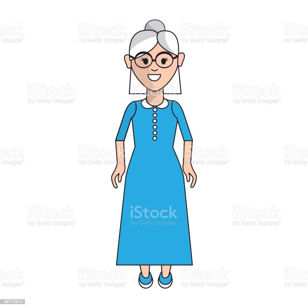 Ilustración De Mujer Con Peinado Y Vestido Largo Y Más