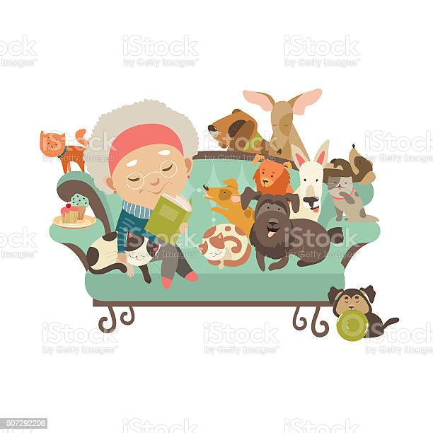 Old woman with her cats and dogs vector id507292206?b=1&k=6&m=507292206&s=612x612&h=zs  ht1igkucqgcqdhtsdtiuzsmodrf7p3u7kz6p9v8=
