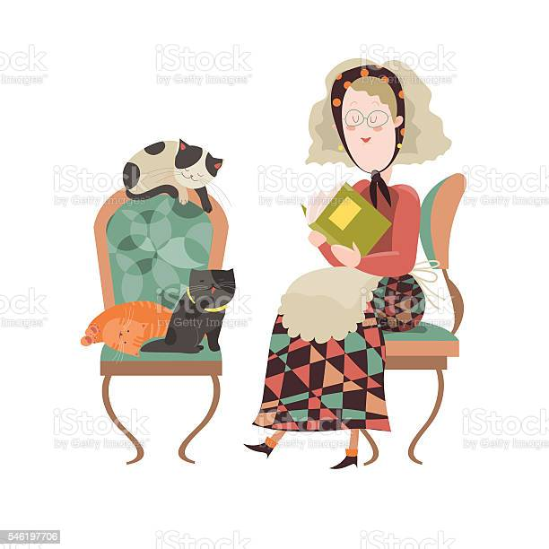 Old woman with her cats vector id546197706?b=1&k=6&m=546197706&s=612x612&h=blqqj1q2k74yvskn8mhsfgn6bptcstiwqf9xwd fa5g=