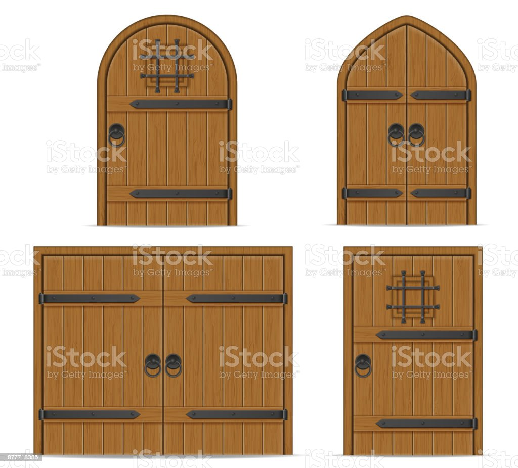 old wooden door vector illustration vector art illustration  sc 1 st  iStock & Royalty Free Medieval Door Clip Art Vector Images u0026 Illustrations ...