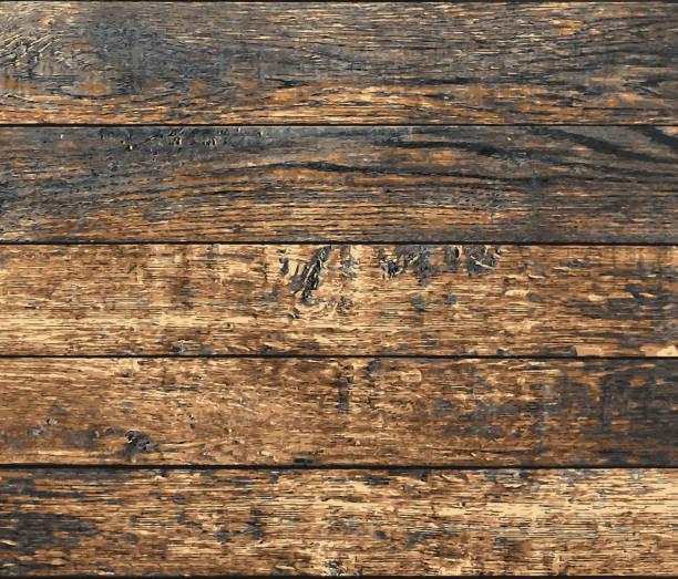 illustrations, cliparts, dessins animés et icônes de vieilles planches grunge en bois, vecteur - fond bois