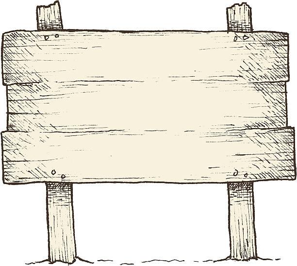 alten hölzernen schild-schild - nagelplatte stock-grafiken, -clipart, -cartoons und -symbole
