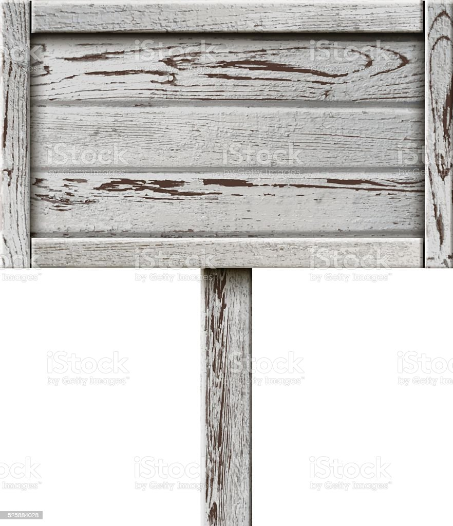 Old Wooden Sign vector art illustration