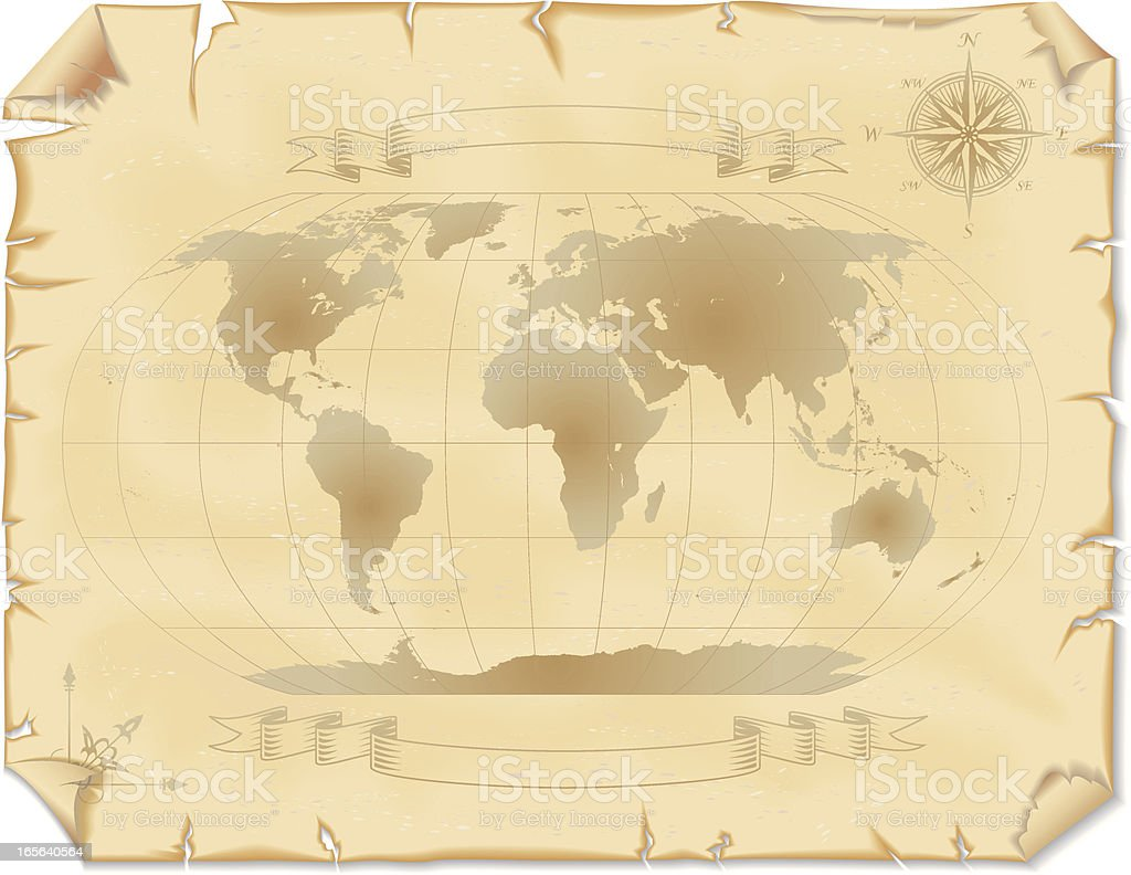 Old world map stock vector art more images of ancient 165640564 old world map royalty free old world map stock vector art amp more images gumiabroncs Choice Image