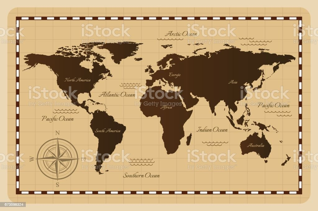 Old world map.