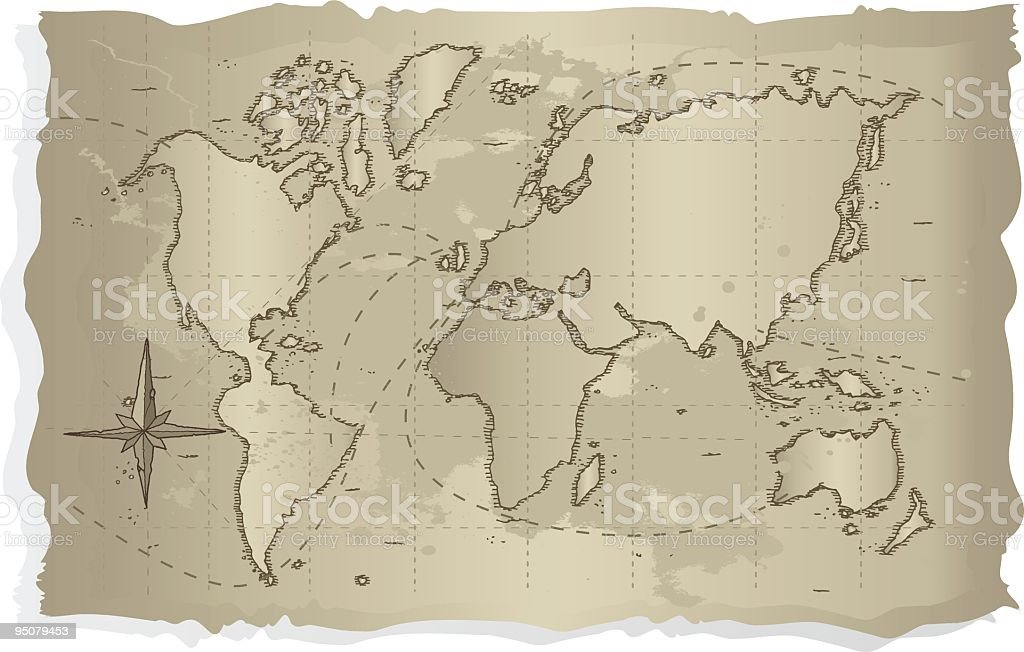 old world map royalty-free stock vector art