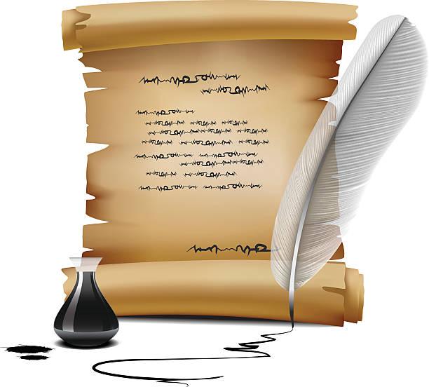 old écrire - Illustration vectorielle