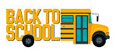 istock Old yellow school bus with back to school post. 1260786719