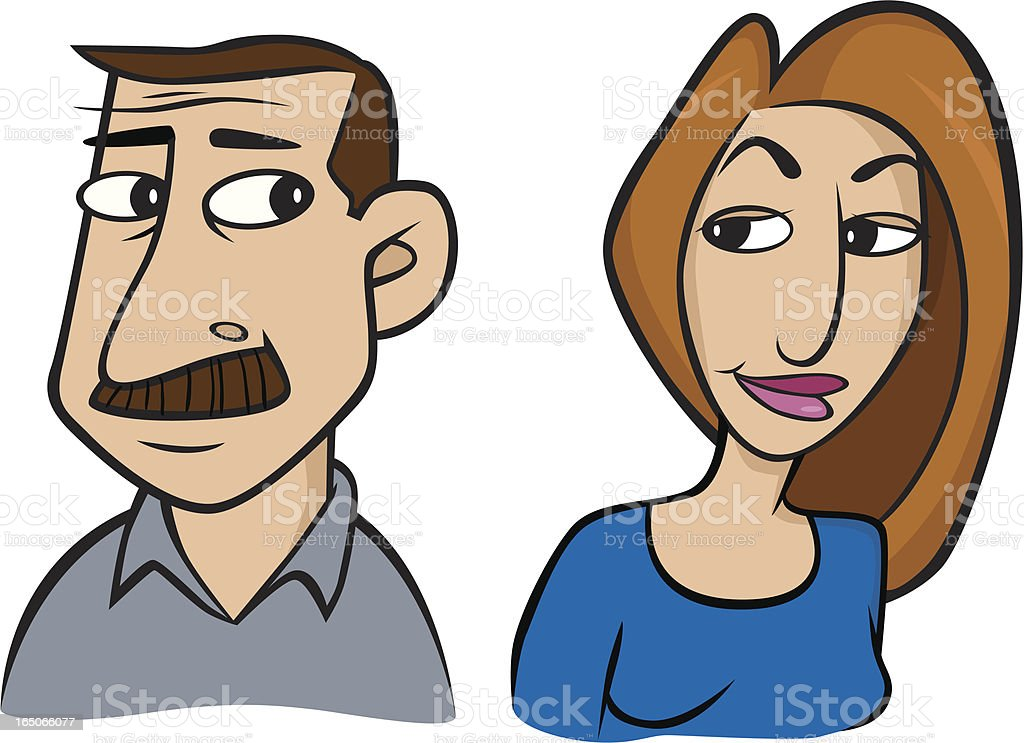 Older Couple royalty-free stock vector art