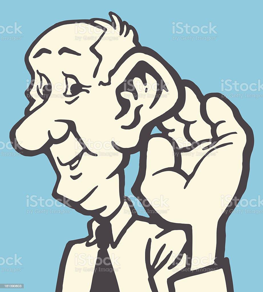 Older Man Listening royalty-free older man listening stock vector art & more images of adult