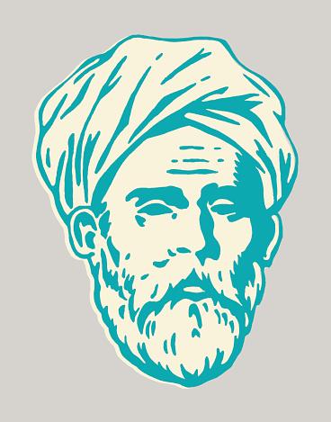 Older Man Wearing Turban