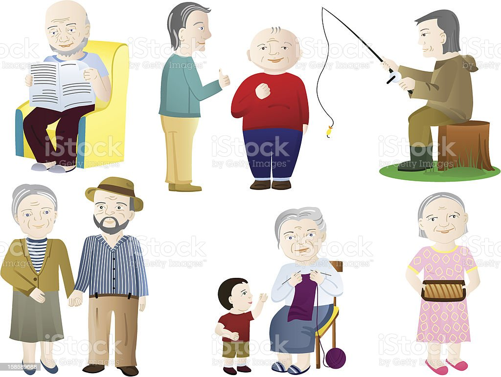 Older people royalty-free stock vector art