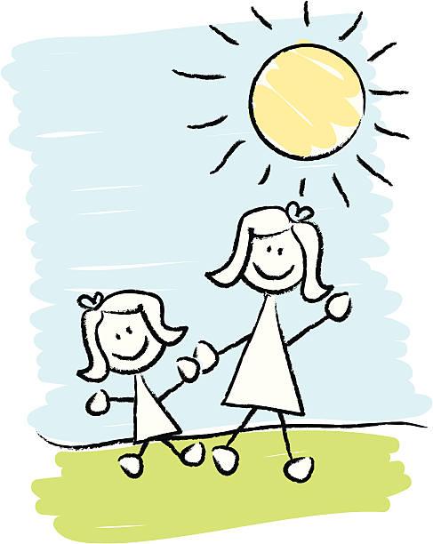 ilustrações, clipart, desenhos animados e ícones de mais & jovens - irmã