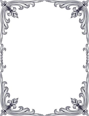 Old-fashioned fleur-de-lis frame