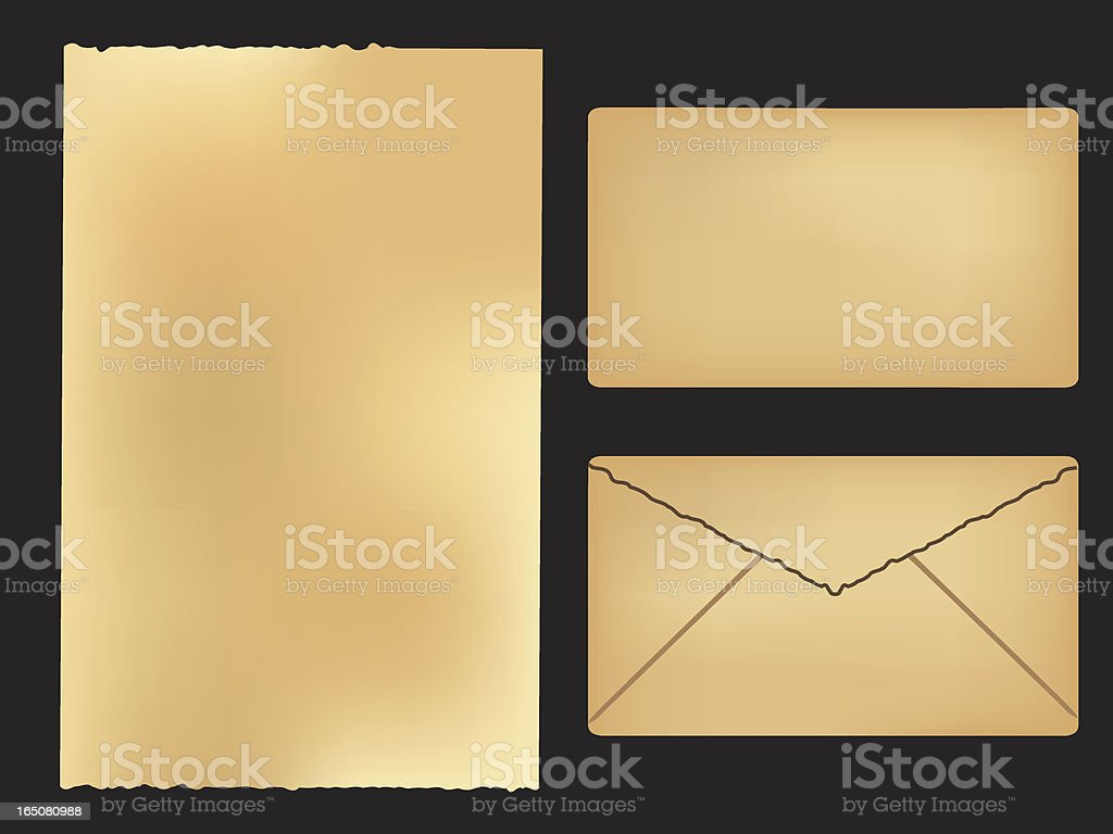 old-fashioned paper template royalty-free stock vector art
