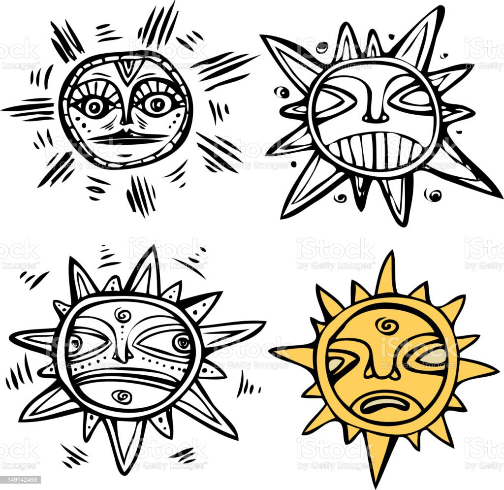 Old-fashioned sun royalty-free oldfashioned sun stock vector art & more images of ancient