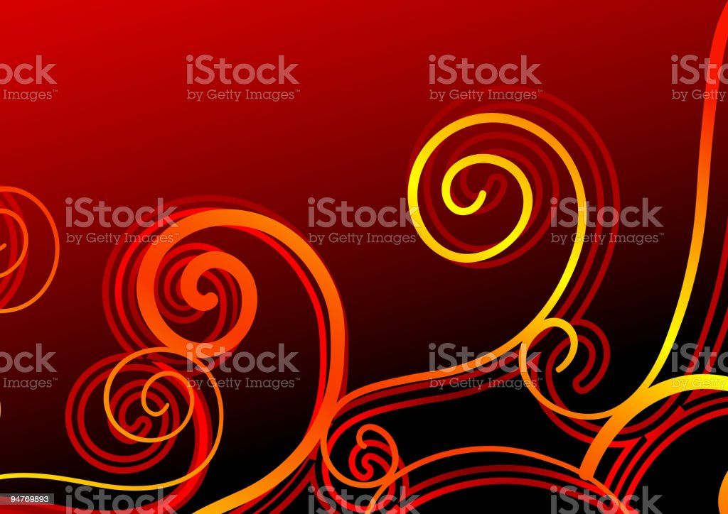 Old-fashioned swirls royalty-free stock vector art