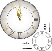 Old-fashioned wall clock