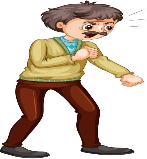 oldman - old man crying clip art stock illustrations, clip art, cartoons, & icons