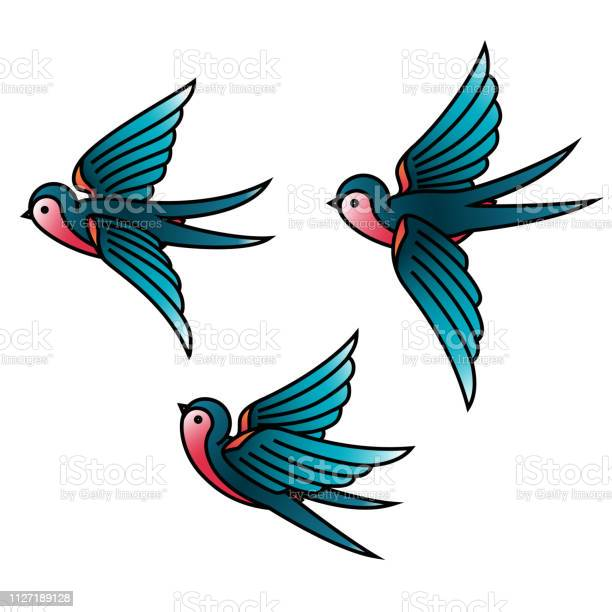 Oldschool traditional tattoo vector birds flying swallows vector id1127189128?b=1&k=6&m=1127189128&s=612x612&h=zflp2xq5nxicakadhb3gn5zdvnt jjkma0b8fy5bpey=