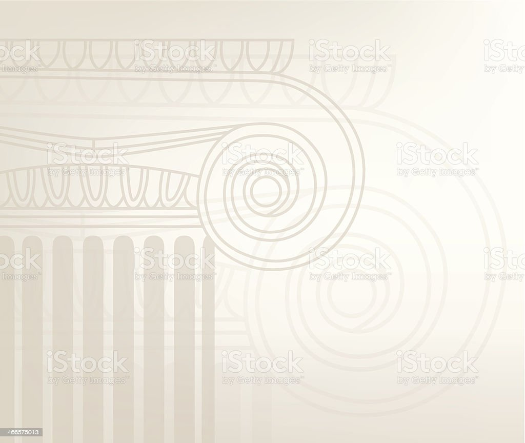 Old-style greece column background. vector illustration vector art illustration