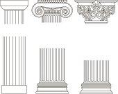 ПечаOld-style greece column background. vector illustrationть