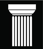 Old-style greece column background. vector illustration