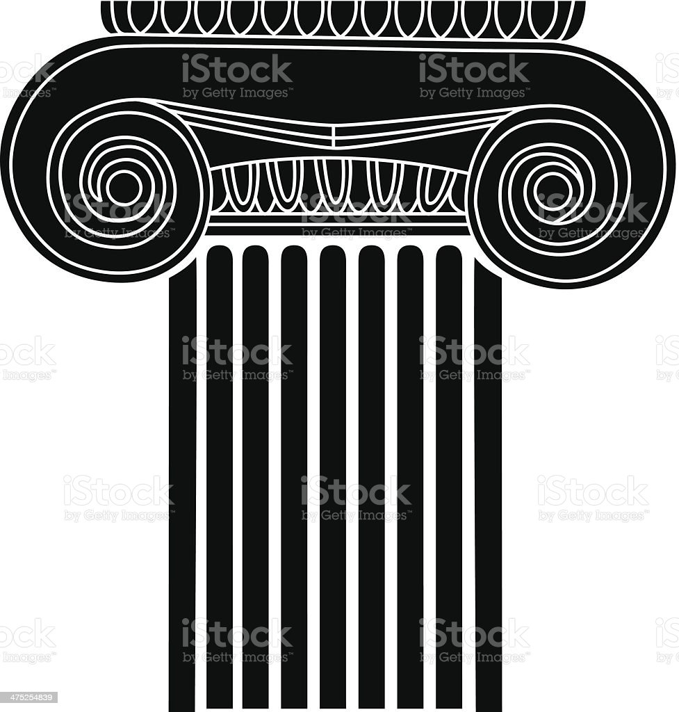 Old-style greece column. vector illustration royalty-free oldstyle greece column vector illustration stock vector art & more images of ancient