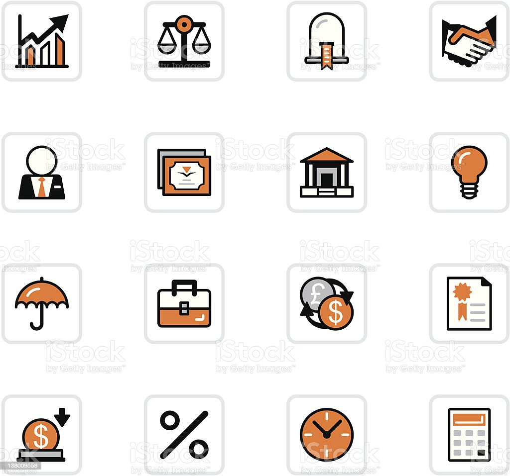 'OlenZ' Icon Series - Business/Banking royalty-free stock vector art