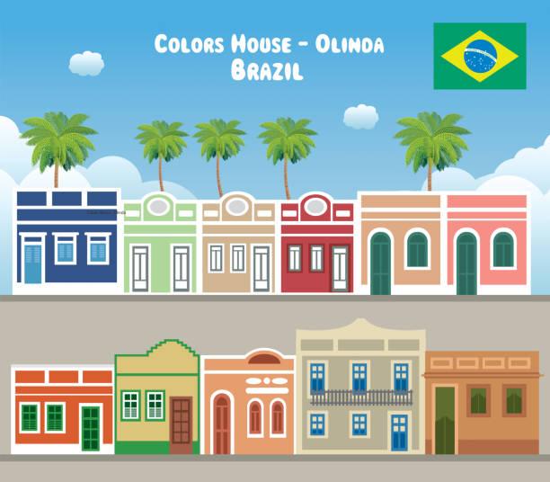 ilustrações, clipart, desenhos animados e ícones de casa de cores de olinda - manaus